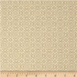 Whisper Print Geo Design Tonal Wheat Fabric