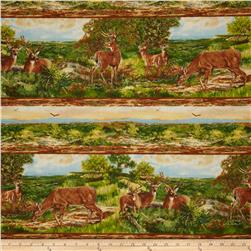 A Change of Scenery Flannel Deer in Woods Stripe Multi