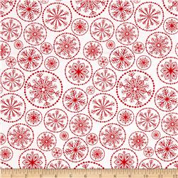 Winter Essential IV Large Snowflake White/Red