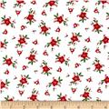 Riley Blake  Pixie Noel Floral White