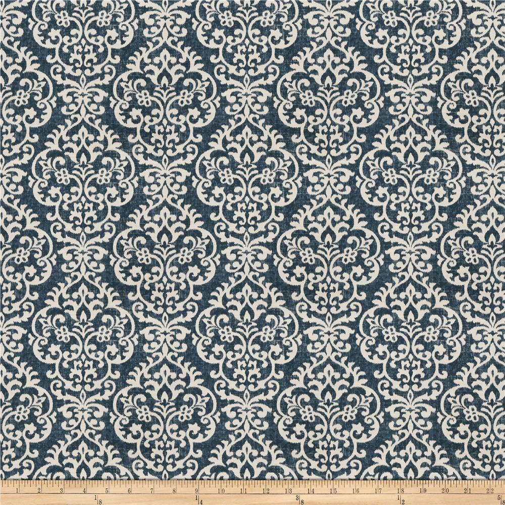 Fabricut Scoop Ikat Barkcloth Bluebell