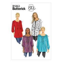 Butterick Misses'/Women's Tunic Pattern B5861 Size B50