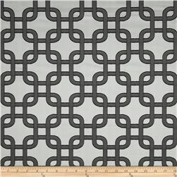 Roller Chain Link Satin Jacquard Ebony