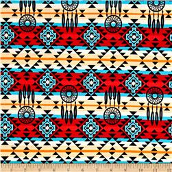 The Old Southwest Native Dream Catcher Red/Turquoise