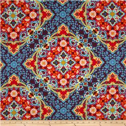 Joel Dewberry Notting Hill Sateen Kaleidoscope Midnight
