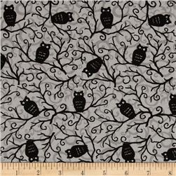 Moda Moonlight Manor Spooky Owls Spooky Grey Fabric