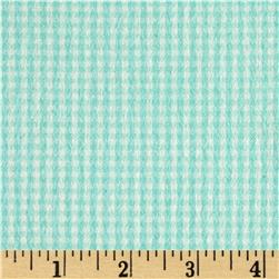 Flannel Gingham Check Aqua