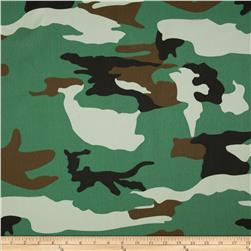 Textile Creations Camouflage Twill Cream/Green/Black