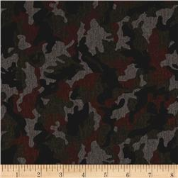 Telio Polyester Rayon Ponte Knit Camo Green/Brown
