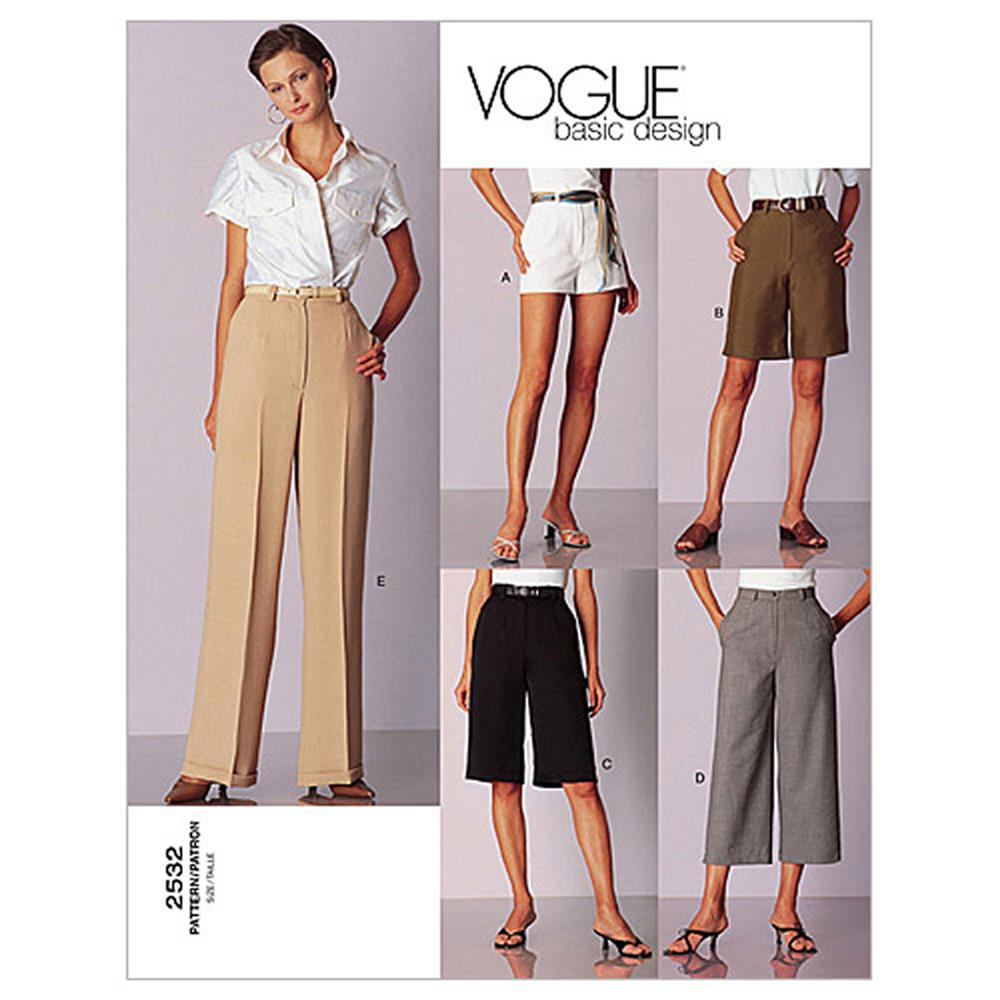 Vogue Misses'/Misses' Petite Shorts & Pants Pattern V2532