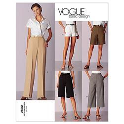 Vogue Misses'/Misses' Petite Shorts & Pants Pattern V2532 Size 060