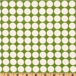 Cozy Cotton Flannel Dots Celery
