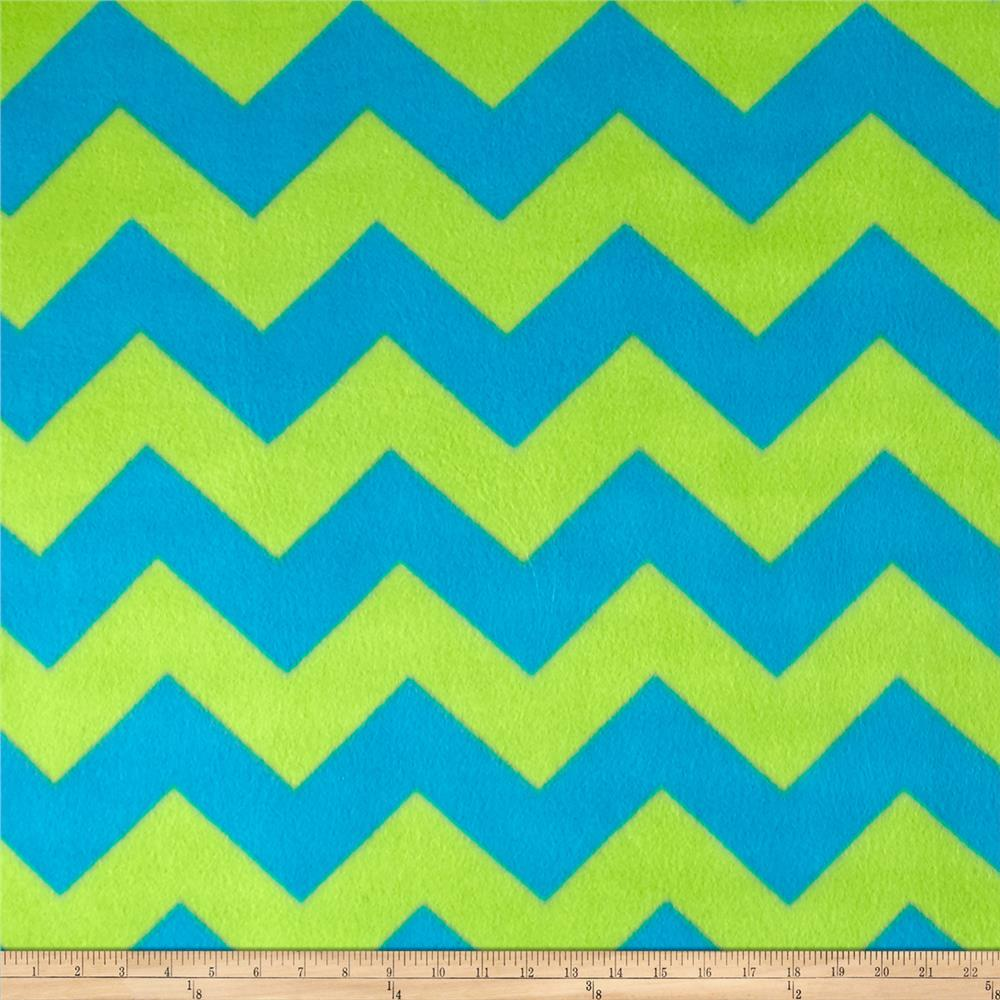 Fleece Chevron Print Lagoon