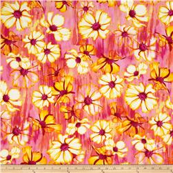 Kanvas Blue Paradise/Sundrenched Patio Garden Pink/Yellow Fabric