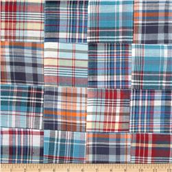 Madras Plaid Patchwork Blue/White/Red