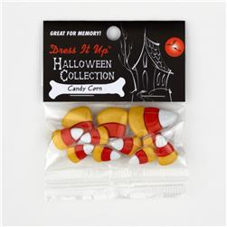Dress It Up Embellisment Buttons  Candy Corn