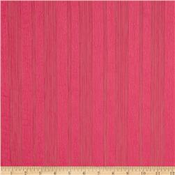 Crinkle Chiffon Striped Hot Pink