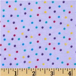Flannel Mini Dots Purple