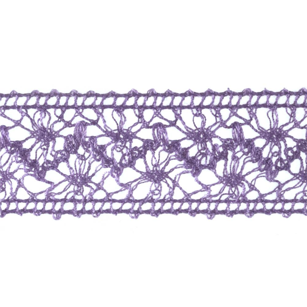 1 1/2'' Crochet Ribbon Lavender