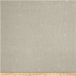 Fabricut Hollander Dot Linen Blend Lagoon