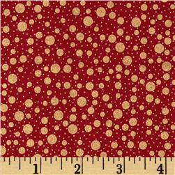 Holiday Metals Metallic Dots Red