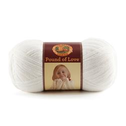 Lion Brand Yarn Pound of Love White