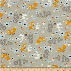 Little Friends Forest Critters Grey