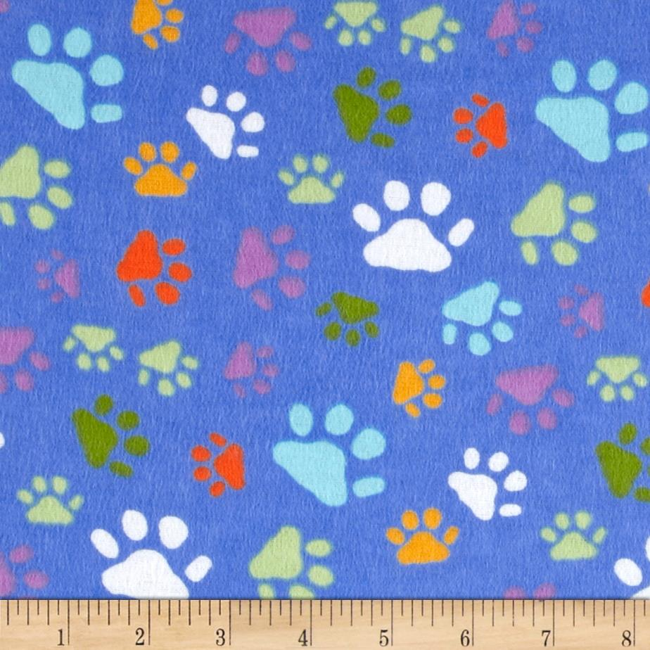 Newcastle Flannel Paw Print Blue