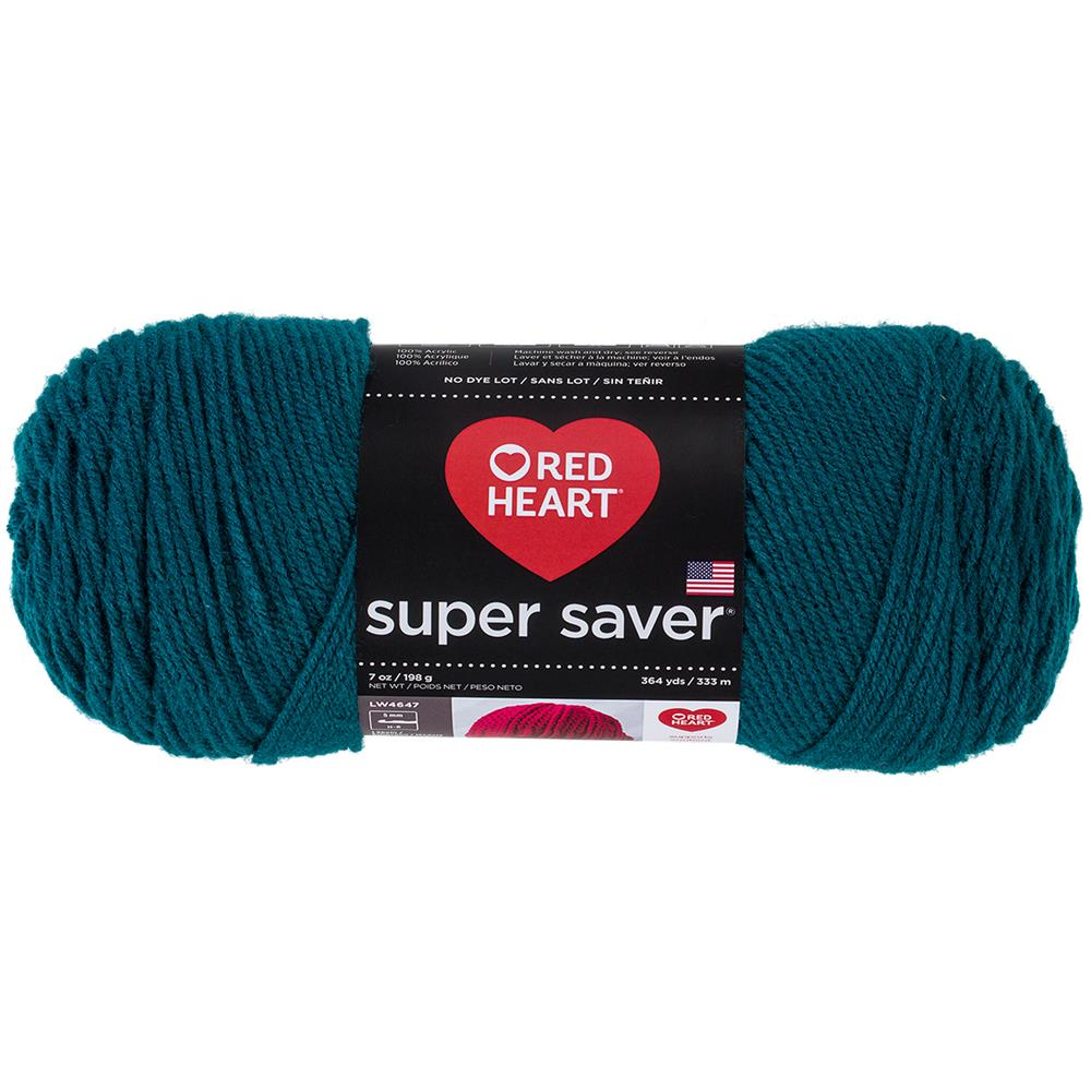 RED HEART SUPER SAVER YARN 656 REAL TEAL