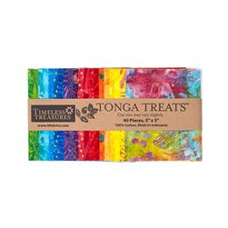 "Timeless Treasures Tonga Treats Batik Pinata 5"" Squares Multi"
