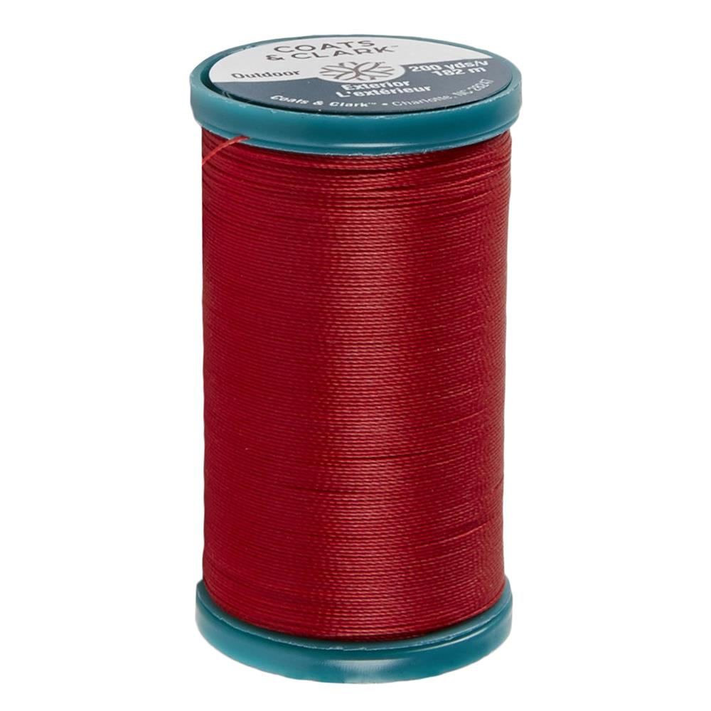 Coats & Clark Outdoor Thread 200 YD Red
