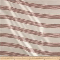 Metallic Dotted Stripe Jacquard Blush