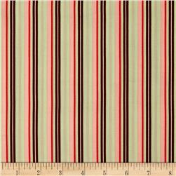 Art Gallery Retro-Spective Retro Stripes Brown Fabric