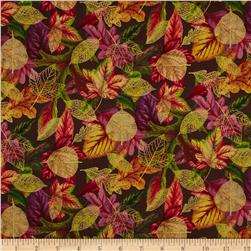 A New Leaf Multi Leaves Brown Fabric
