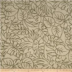 60'' Sultana Burlap Print Leaf Green Fabric