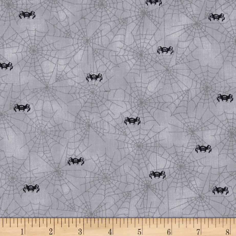 Spooky Eve Spiderwebs Grey