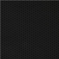 Polka Vinyl Black Fabric