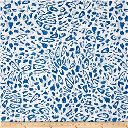Bella Casa Cheetah Print Blue/White
