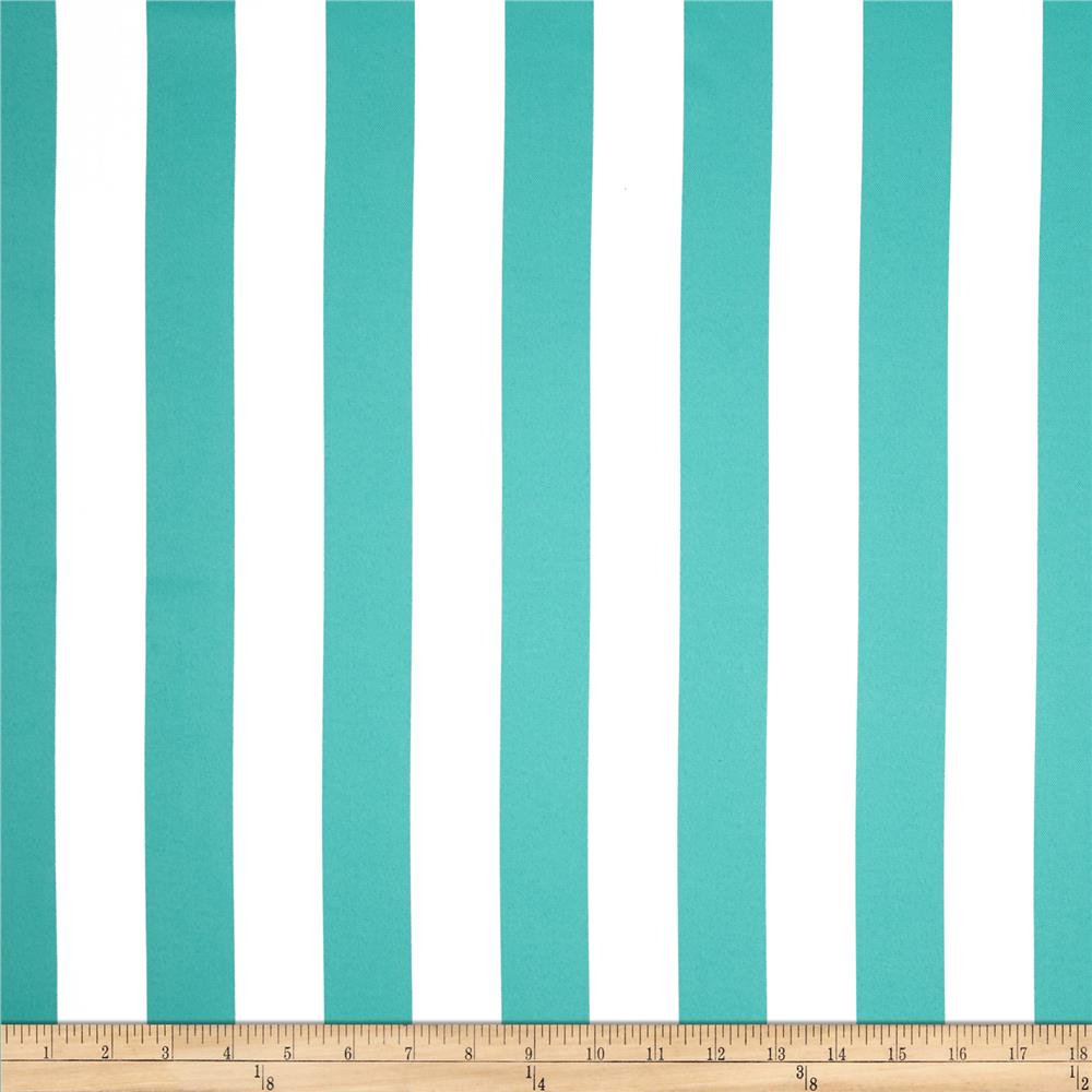 RCA Vertical Stripe Blackout Drapery Fabric Jade