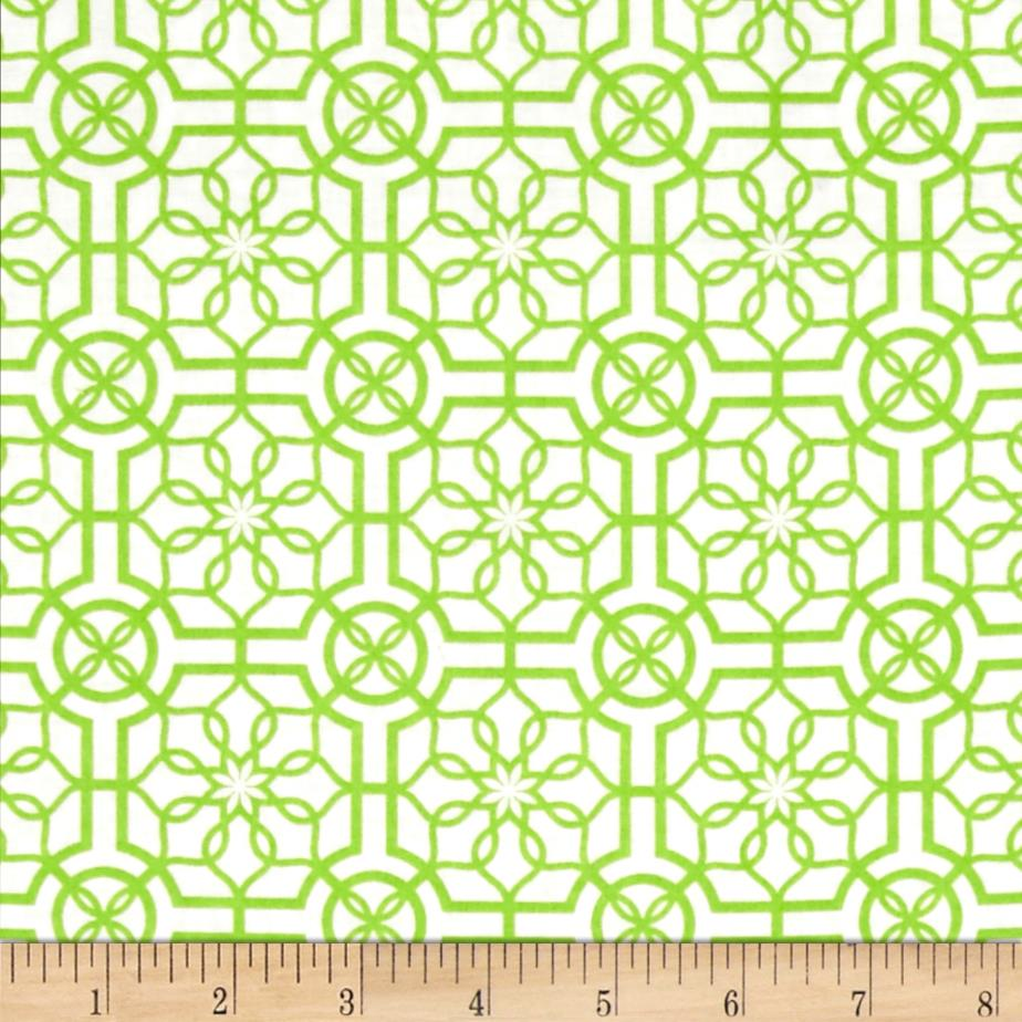 Bahama Breeze Trendy Trellis White/Lime
