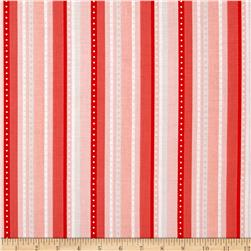 Riley Blake Princess  Dream Stripe Coral