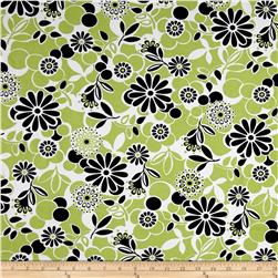 Fun Floral Happy Activewear Lime