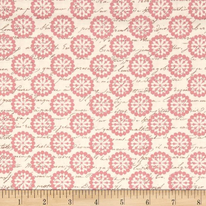 Paris Spring Expo Paris Blooms and Script Cream/Pink