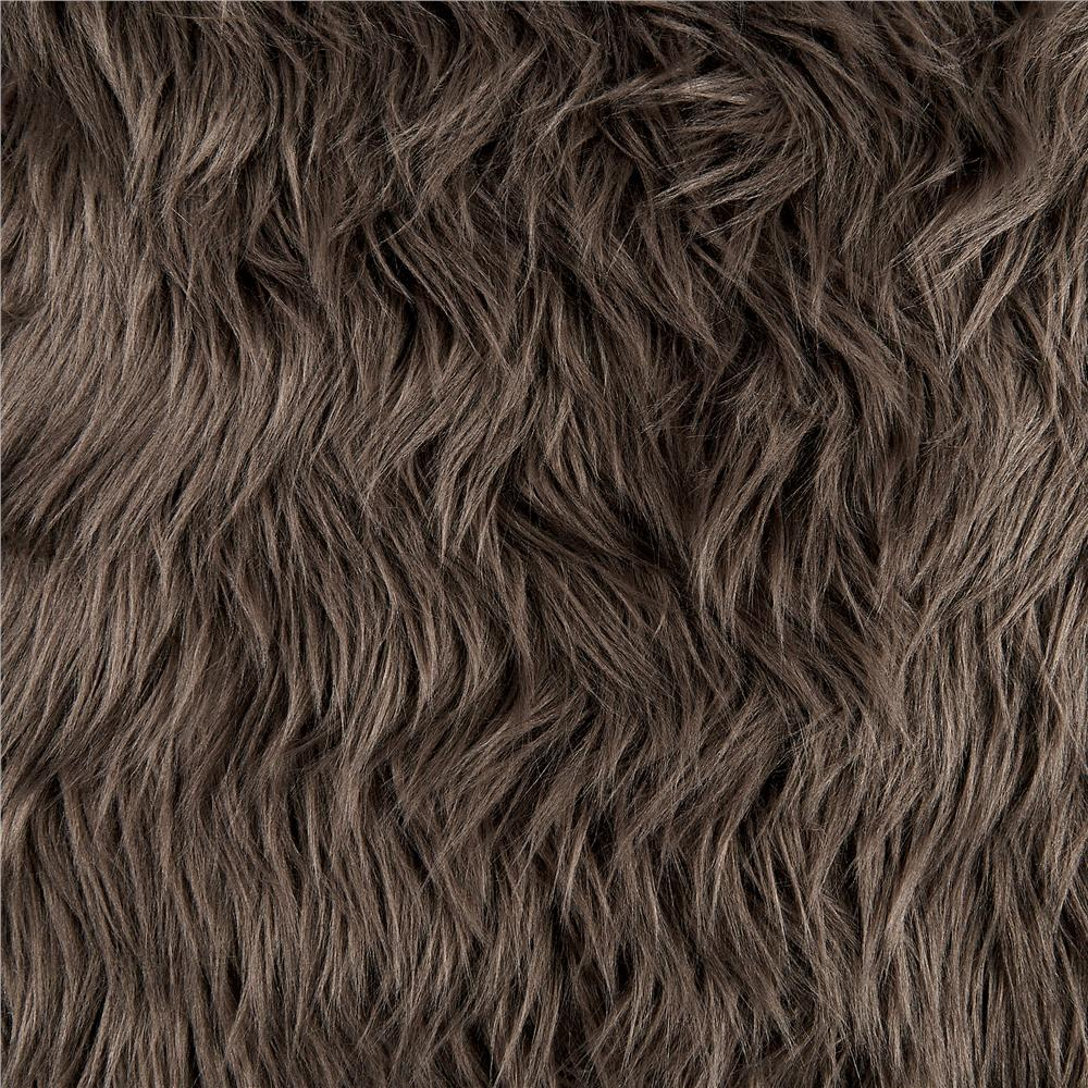 Faux Fur Luxury Shag Pewter