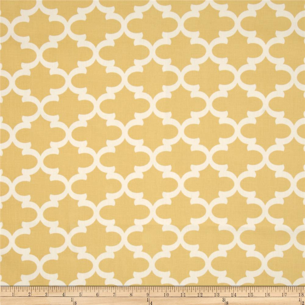 Premier Prints Fulton Macon Saffron Yellow