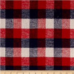 Yarn Dyed Flannel Plaid Patriotic