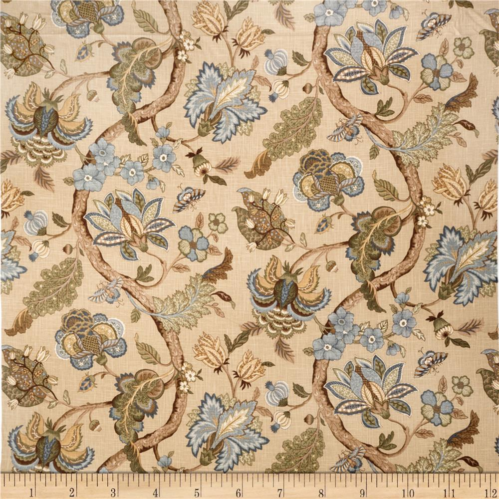 Jaclyn Smith Virginia Floral Blend Lagoon