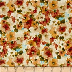 Kaufman London Calling Lawn Water Color Floral Harvest