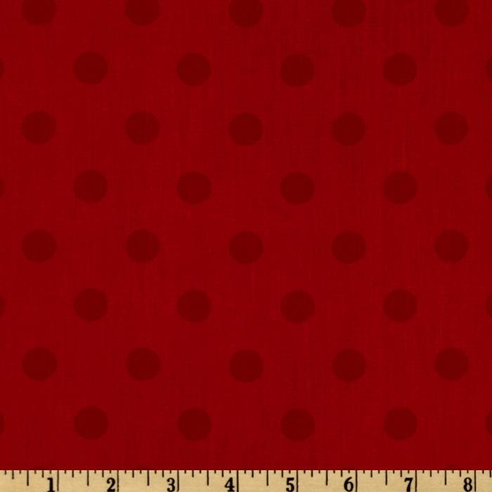 Moda 108'' Dottie Quilt Backing Tonal Red