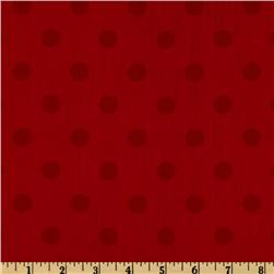 Moda 108'' Dottie Quilt Backing Tonal Red Fabric